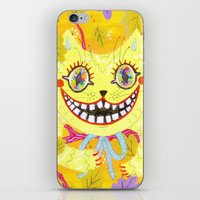 cheshire cat iPhone & iPod Skins featuring Cheshire Cat by Janna Morton