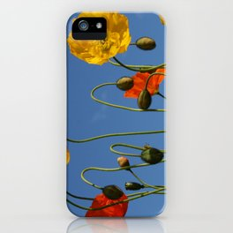 Jewell Gardens Poppies by Mandy Ramsey, Haines, Alaska iPhone Case