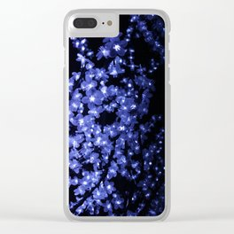 Blue Lights Clear iPhone Case