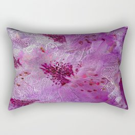 Rhododendron Lace Abstract  Rectangular Pillow