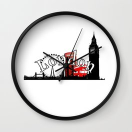 London Town logo design Wall Clock
