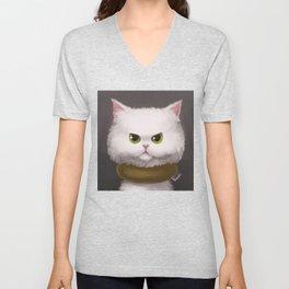 My White Cat Unisex V-Neck