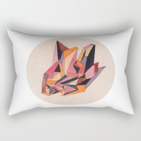 Warm Geometric Watercolour Rectangular Pillow
