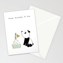 Panda and cupcake Stationery Cards