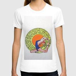 One Leg King Pigeon - Eka Pada Rajakopatasa T-shirt
