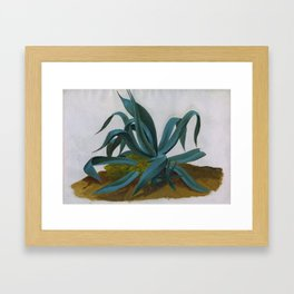 12,000pixel-500dpi - Johan Christian Dahl - Study Of An Agave - Digital Remastered Edition Framed Art Print