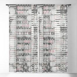 Vulnerability Commerce (P/D3 Glitch Collage Studies) Sheer Curtain