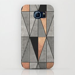 Concrete and Copper Triangles iPhone Case