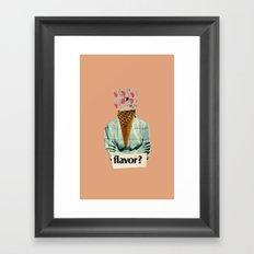 Flavor of the Week Framed Art Print
