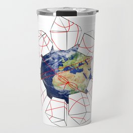 Wrapped to a Warped World Travel Mug