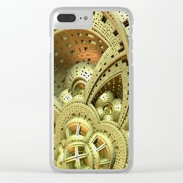 Industrial Steam Punk Cogwheels Clear iPhone Case