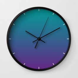Ombre | Teal and Purple Wall Clock