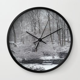 Maplewood - South Mountain Reservation - Snow Wall Clock