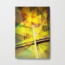 Cable Bridge Metal Print