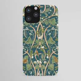 Royal Garden Art Nouveau | Deep Teal iPhone Case