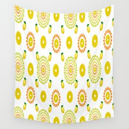 Lemon Floral Wall Tapestry
