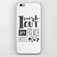 french fries iPhone & iPod Skins featuring French Fries by Emily Vickery