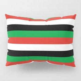 libya Sudan Syria United Arab Emirates Western Sahara flag stripes Pillow Sham