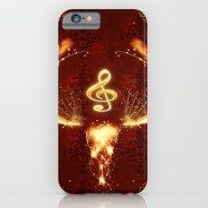 Music, clef iPhone 6s Slim Case