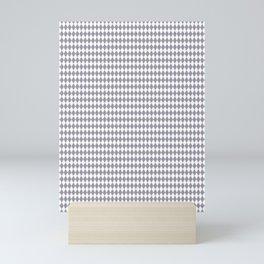 Pantone Lilac Gray Rippled Diamonds, Harlequin, Classic Rhombus Pattern Mini Art Print