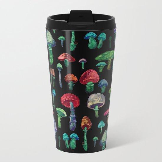 mushrooms at nigth Metal Travel Mug