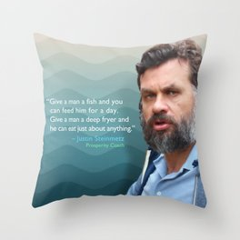 Give a Man a Fish Throw Pillow