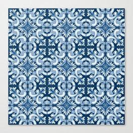 Portuguese Tiles - Classic Blue Canvas Print