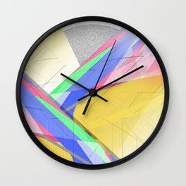 Multicolored abstract 2016 / 012 Wall Clock