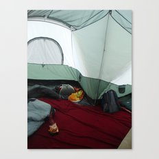 Camping Gnome Canvas Print