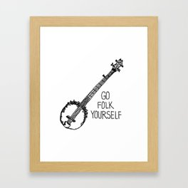 Go Folk Yourself Print Framed Art Print