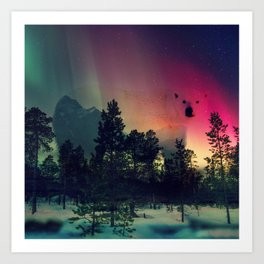 Polar Bar Nebula Art Print