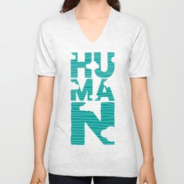 HUMAN (marrs green) Unisex V-Neck