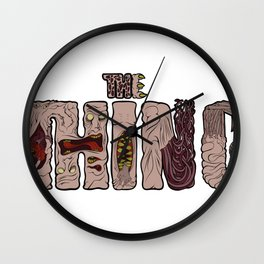 The thing lettering Wall Clock