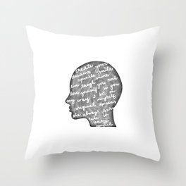 Positive words in my head Throw Pillow