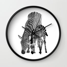 Striped Love (black and white) Wall Clock
