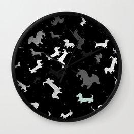 dachshund dog constellation Wall Clock
