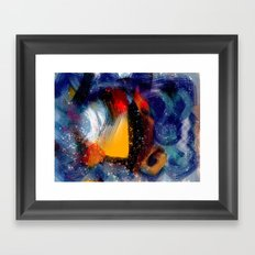 Energy of life is love abstract painting Framed Art Print