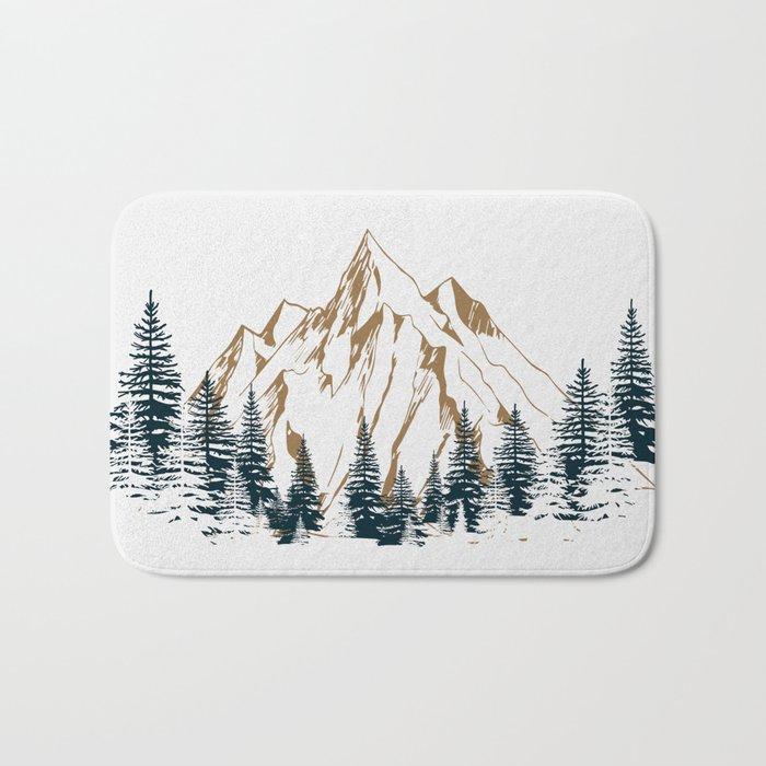 mountain # 4 Badematte