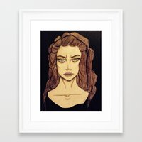 lorde Framed Art Prints featuring Lorde by Haley Kline