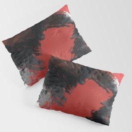 Red and Black Paint Splash Pillow Sham