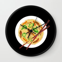 Lo mein decor // Lo mein noodles //  chow mein noodles // Chinese noodles Wall Clock