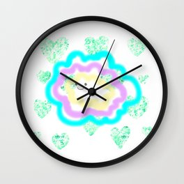 leaves and sparkle ~smile~ Wall Clock