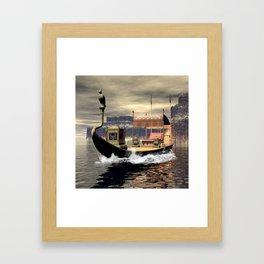 Sacred barge Framed Art Print