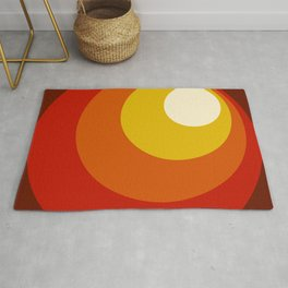 Ceridwen - Classic Colorful Abstract Minimal Retro 70s Style Dots Design Rug