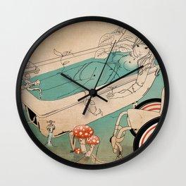 Bathing Woman Wall Clock