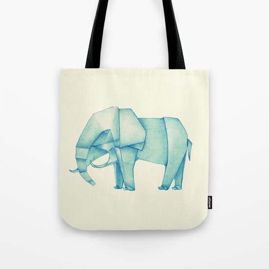 Paper Elephant Tote Bag