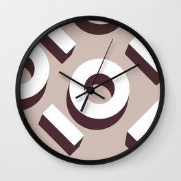 Beige Keyhole Pattern Wall Clock