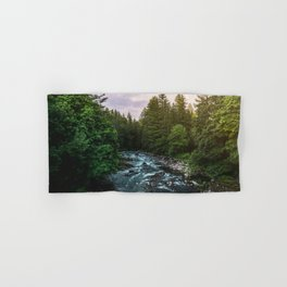 PNW River Run II - Pacific Northwest Nature Photography Hand & Bath Towel