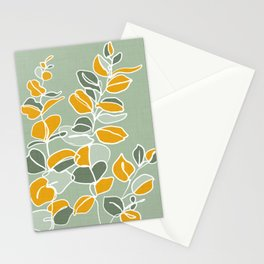 Variegated leaves Stationery Cards