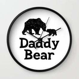 Daddy Bear Fathers Day Dad Gift Wall Clock